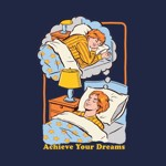 Steven Rhodes - Achieve Your Dreams Navy T-Shirt - XL - Packshot 2