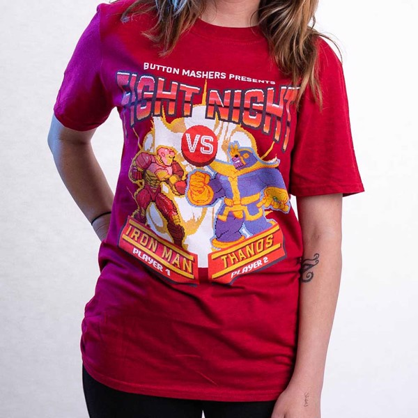 Marvel - Marvel 80th Anniversary - Marvel Fight Night Red T-Shirt - M - Packshot 3