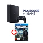 PlayStation 4 500GB Black Console + 1 Game - Packshot 1