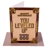 Happy Birthday You Levelled Up Greeting Card - Packshot 1