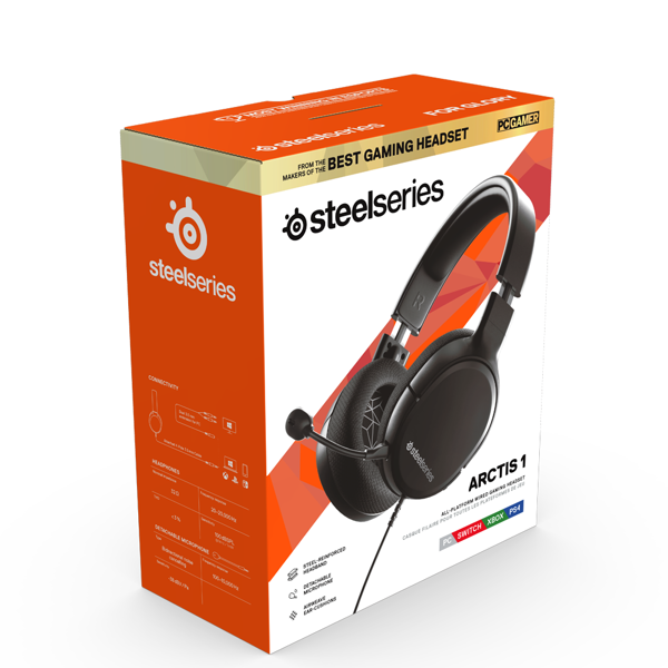 Steelseries Arctis 1 Black Headset - Packshot 1