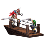 The Legend of Zelda - Skyward Sword - Link vs Scervo Sandship Diorama - Packshot 1