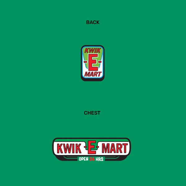The Simpsons - Kwik-E-Mart Green T-Shirt - Packshot 2