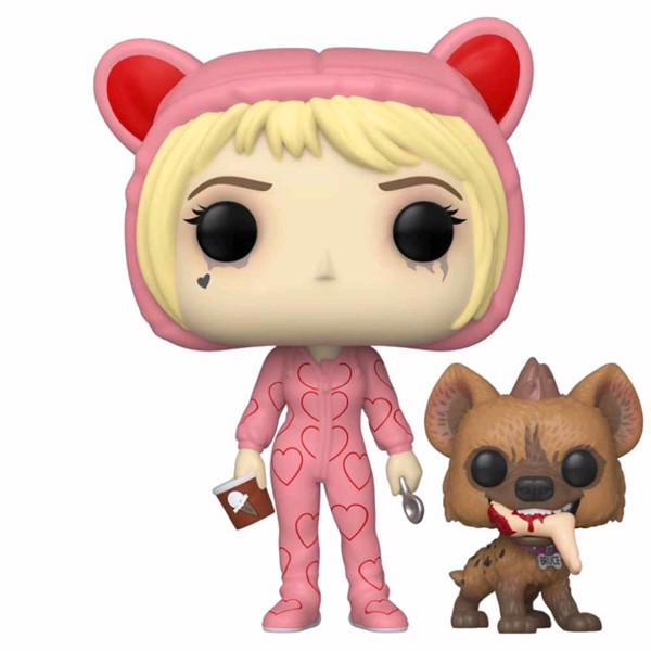 DC Comics - Birds of Prey - Harley Quinn Onesie with Bruce Pop! Vinyl Figure - Packshot 1