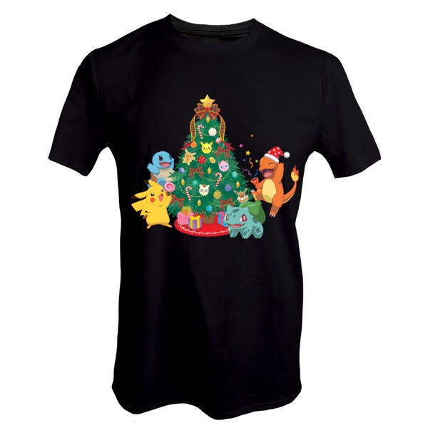 Pokemon - Kanto Starters Holiday T-Shirt - Packshot 1