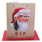 Hip Santa Christmas Card - Packshot 1