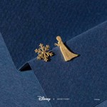 Disney - Frozen - Elsa & Snowflake Short Story Gold Stud Earrings - Packshot 2