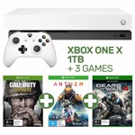 Xbox One X 1TB White Console + 3 Games - Packshot 1