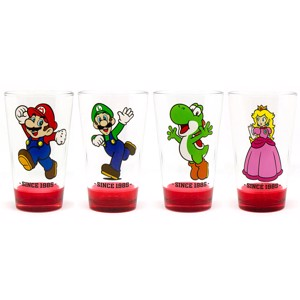 Nintendo - Super Mario (1985) Drinking Glass 4-Pack - Things For Home
