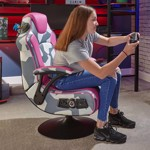 X-Rocker Geo-Camo Neon Peds - Pink Camo Gaming Chair - Packshot 6