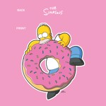 The Simpsons - Homer With Donut T-Shirt - XS - Packshot 2