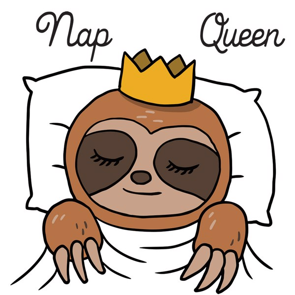 Sloth Nap Queen Female T-Shirt - Packshot 2