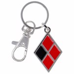DC Comics - Birds of Prey - Harley Quinn Diamond Symbol Enamel Keychain - Packshot 1