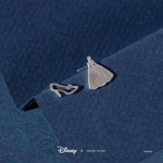 Disney - Cinderella & Glass Slipper Short Story Silver Stud Earrings - Packshot 2