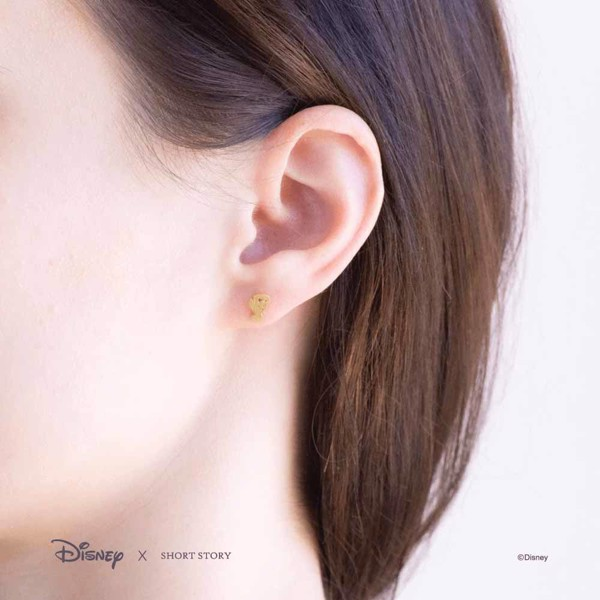 Disney - Beauty & The Beast - Mrs Potts & Chip Short Story Gold Stud Earrings - Packshot 5
