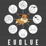 Pokemon - Eevee Evolution Grid T-Shirt - Packshot 2