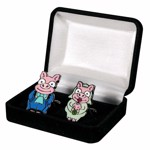 The Simpsons - Pig Bride & Groom Cufflinks Replica - Packshot 1