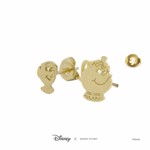 Disney - Beauty & The Beast - Mrs Potts & Chip Short Story Gold Stud Earrings - Packshot 3