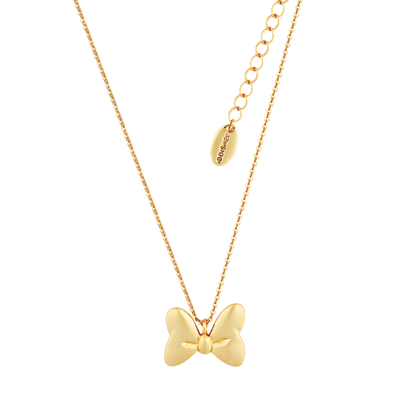 Disney - Minnie Mouse Classic Bow Gold Plated Necklace - Packshot 1