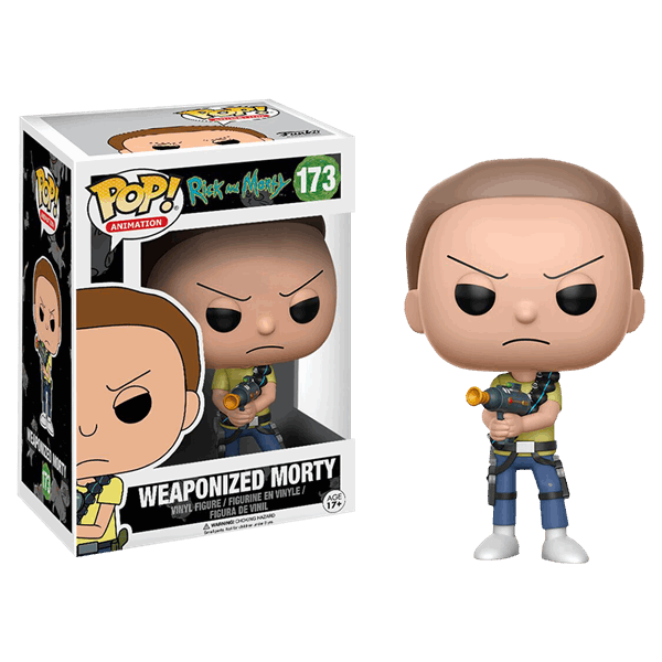 Rick and Morty - Morty with Weapon Pop! Vinyl Figure - Packshot 1