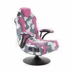X-Rocker Geo-Camo Neon Peds - Pink Camo Gaming Chair - Packshot 1