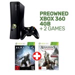 Preowned Xbox 360 4GB Slim + 2 Games - Packshot 1