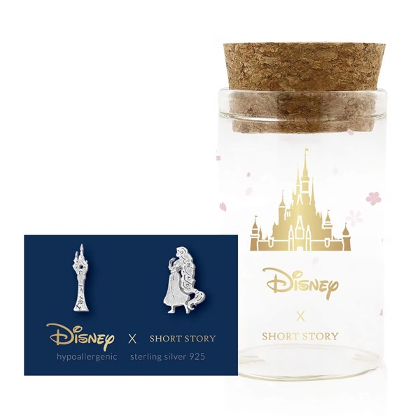 Disney - Rapunzel & Tower Short Story Silver Stud Earrings - Packshot 1