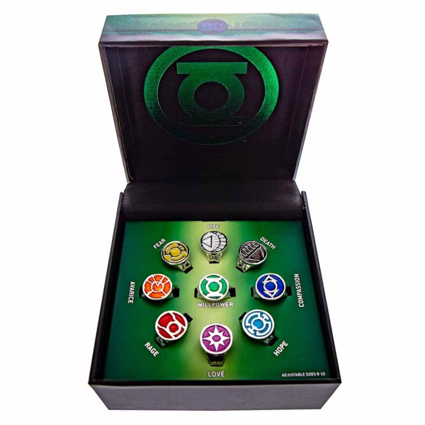 DC Comics - Green Lantern Emotional Spectrum Ring Set - Packshot 1