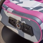 X-Rocker Geo-Camo Neon Peds - Pink Camo Gaming Chair - Packshot 4