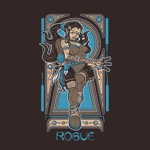 Rogue Tarot Brown T-Shirt - XL - Packshot 2