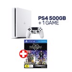 PlayStation 4 500GB White Console + 1 Game - Packshot 1