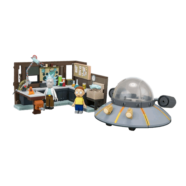 Rick and Morty - Spaceship and Garage Large Construction Set - Packshot 1