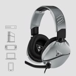 Turtle Beach® Recon 70 Gaming Headset - Silver - Packshot 4