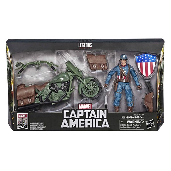 Marvel - Legends Ultimate Vintage Captain America Vehicle Action Figure - Packshot 5