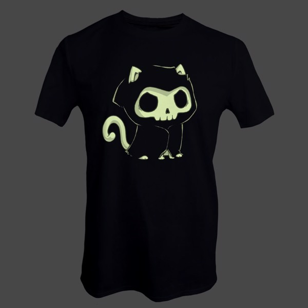 Grim Kitty Glow in The Dark T-Shirt - Packshot 2
