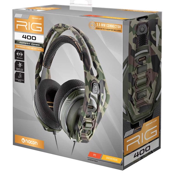 RIG 400 PC Forest Camo Headset - Packshot 4