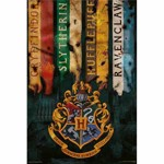 Harry Potter - House Flags Poster - Packshot 1