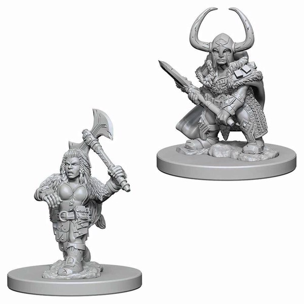 Dungeons & Dragons - Nolzur's Marvelous Miniatures - Dwarf Female Barbarian - Packshot 1