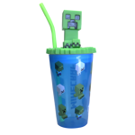 Minecraft - Funtastic Creeper Lidded Tumbler With Straw - Packshot 1