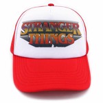 Stranger Things - Logo Red & White Mesh Snapback Cap - Packshot 2