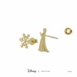 Disney - Frozen - Elsa & Snowflake Short Story Gold Stud Earrings - Packshot 3