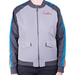 Star Trek - Wesley Crusher Women's Bomber Jacket - Grey - Size: M - Packshot 2