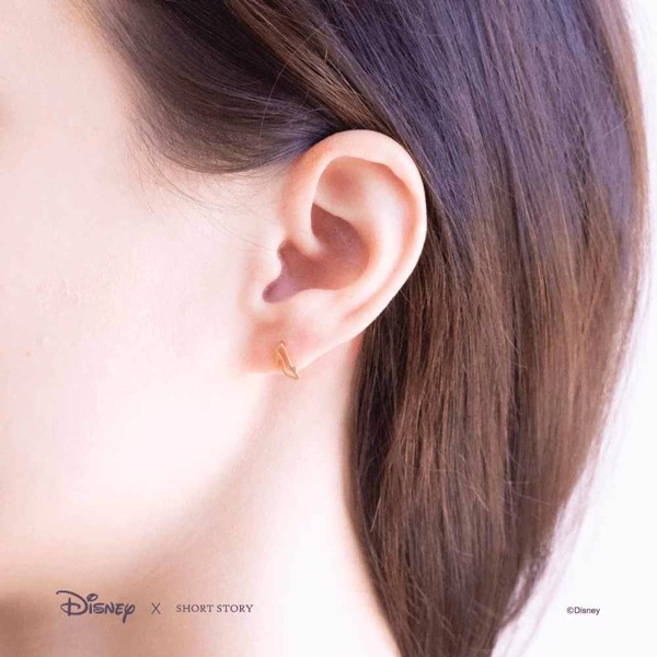 Disney - Cinderella & Glass Slipper Short Story Gold Stud Earrings - Packshot 5