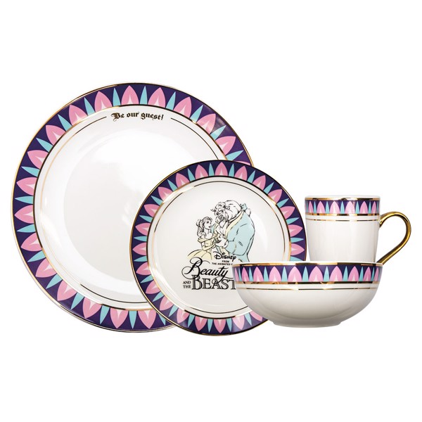 Disney - Beauty and The Beast 16-Piece Dinner Set - Packshot 1