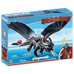 How to Train Your Dragon - Hiccup and Toothless PlayMobil Construction Set - Packshot 3