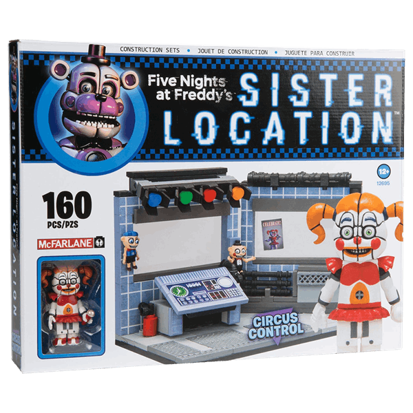 Five Nights At Freddy's - The Circus Control Room McFarlane Toys Construction Set - Packshot 1