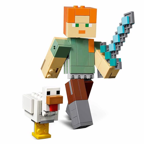Minecraft - LEGO Alex BigFig with Chicken - Packshot 2
