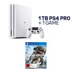 PlayStation 4 Pro 1TB Glacier White Console + 1 Game - Packshot 1