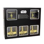 Star Wars - Gold Tie fighters and X-wings 6 Pack Holiday Decorations - Packshot 1