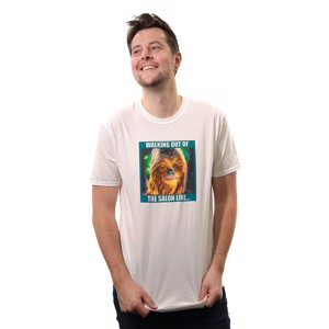 Star Wars - Chewbacca Salon Meme T-Shirt - Clothing